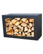 GardenMaxX Holzbox für Holzlager Schwarz