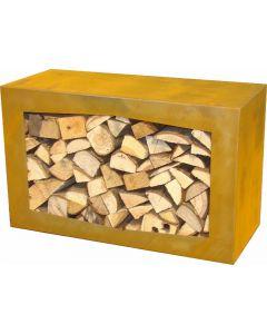 GardenMaxX Holzbox für Holzlager Corten