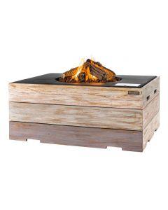 Happy Cocooning Feuertisch rechteckig schwarz