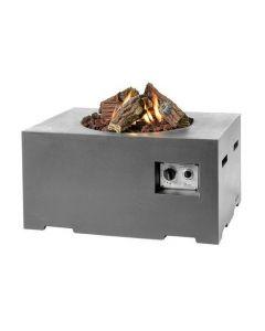 Happy Cocooning Feuertisch rechteckig klein Anthrazit