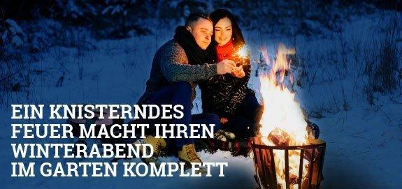 Feuerkorb-shop.de - Ein knisterndes Feuer macht Ihren Winterabend im Garten komplett!