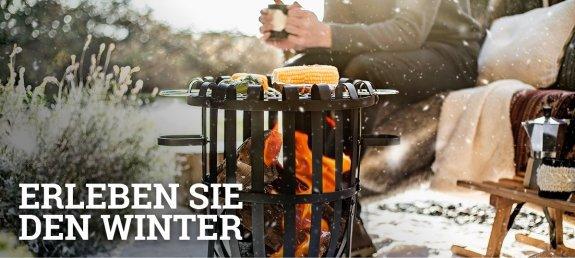 Erleben Sie den Winter  |  Feuerkorb-shop.de