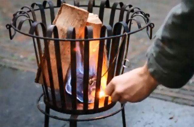Vuurkorf veilig aansteken